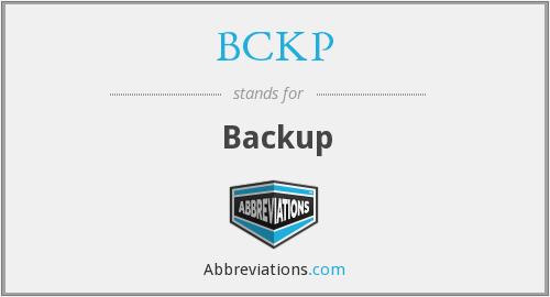 What does BCKP stand for?