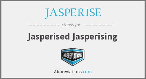 What does JASPERISE stand for?
