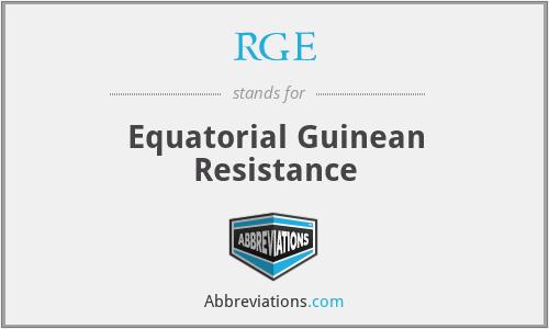 RGE - Equatorial Guinean Resistance
