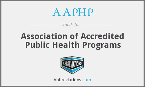 What does AAPHP stand for?