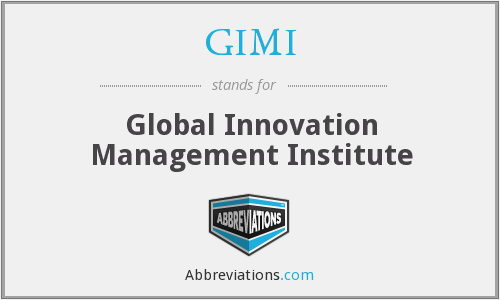 What does GIMI stand for?