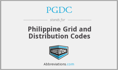 PGDC - Philippine Grid and Distribution Codes