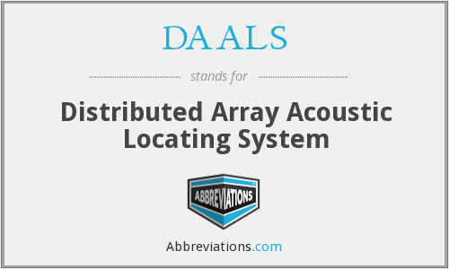 DAALS - Distributed Array Acoustic Locating System