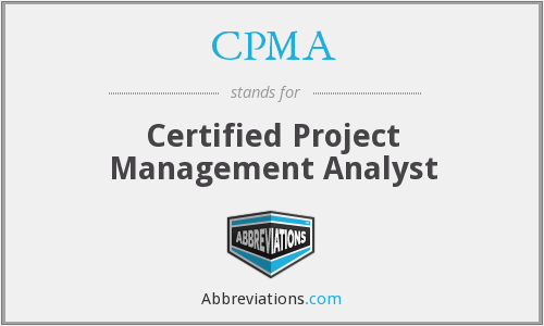 CPMA - Certified Project Management Analyst