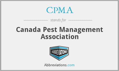 CPMA - Canada Pest Management Association
