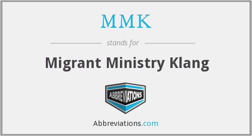 MMK - Migrant Ministry Klang