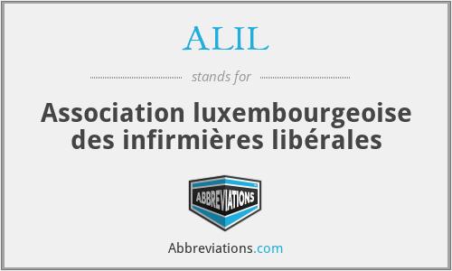 ALIL - Association luxembourgeoise des infirmières libérales