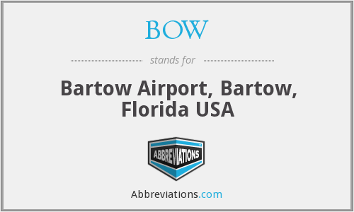 BOW - Bartow Airport, Bartow, Florida USA