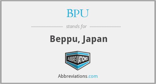 BPU - Beppu, Japan