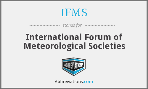 IFMS - International Forum of Meteorological Societies
