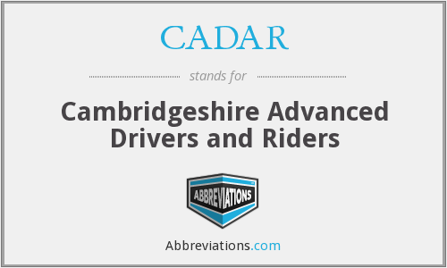 What does CADAR stand for?