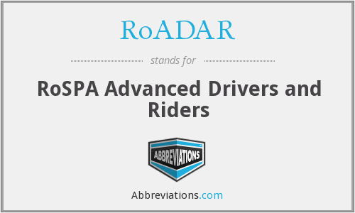 What does ROADAR stand for?