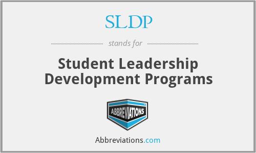 SLDP - Student Leadership Development Programs