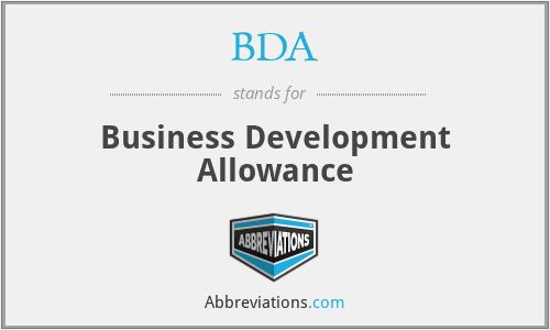 BDA - Business Development Allowance