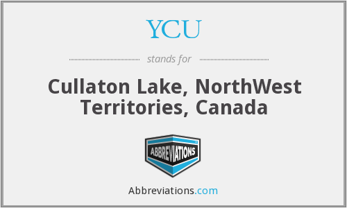 YCU - Cullaton Lake, NorthWest Territories, Canada
