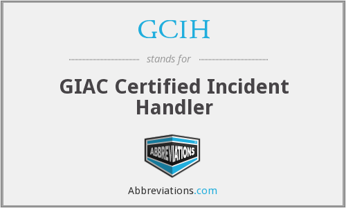 What does GCIH stand for?