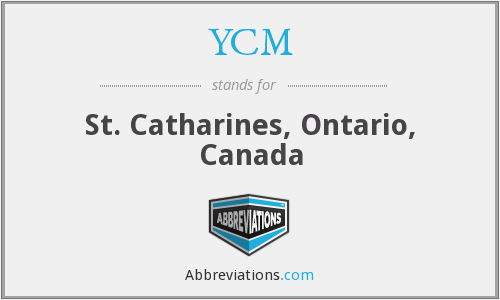 YCM - St. Catharines, Ontario, Canada