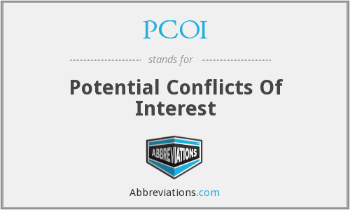 PCOI - Potential Conflicts Of Interest