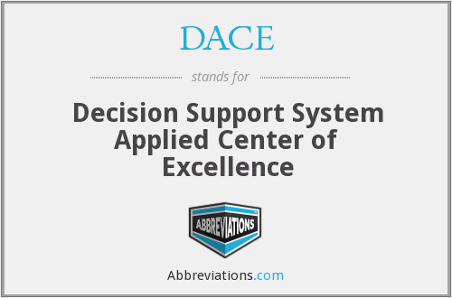 DACE - Decision Support System Applied Center of Excellence