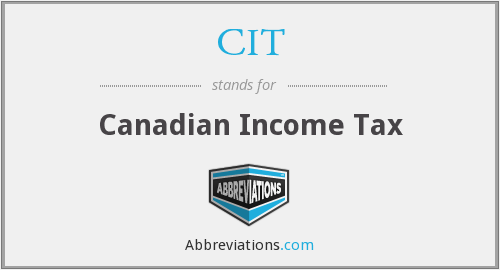 CIT - Canadian Income Tax