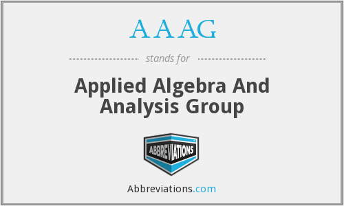 AAAG - Applied Algebra And Analysis Group