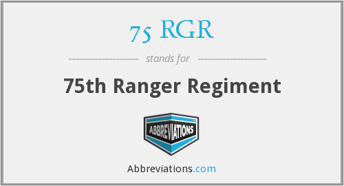75 RGR - 75th Ranger Regiment