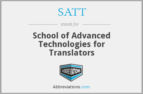 What does SATT stand for?