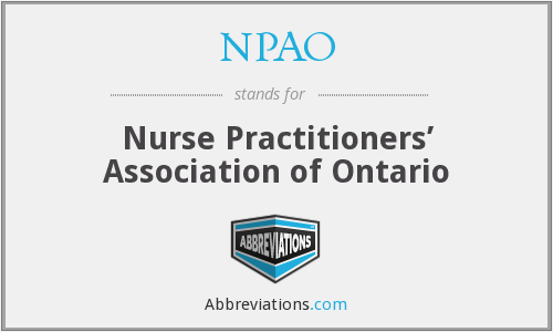 What does NPAO stand for?