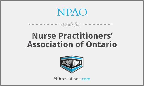 NPAO - Nurse Practitioners' Association of Ontario