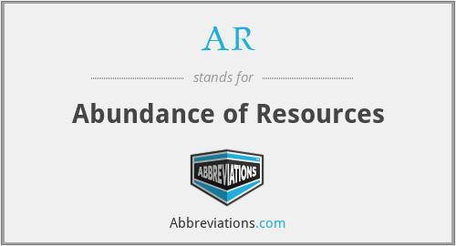 AR - Abundance of Resources