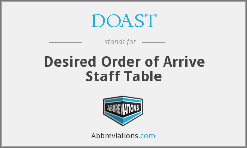 What does DOAST stand for?