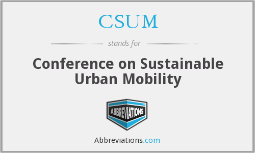 What does CSUM stand for?