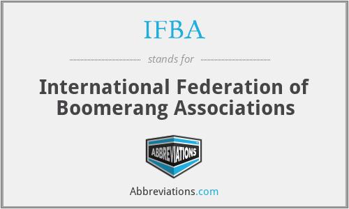 IFBA - International Federation of Boomerang Associations