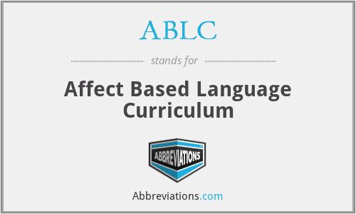 ABLC - Affect Based Language Curriculum