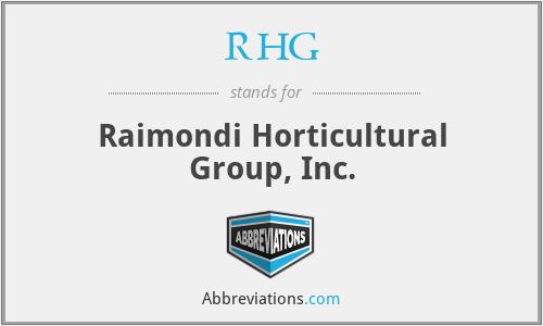 RHG - Raimondi Horticultural Group, Inc.