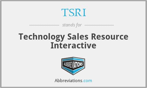 TSRI - Technology Sales Resource Interactive