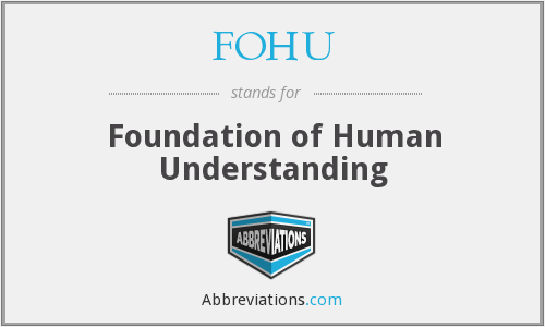 What does FOHU stand for?