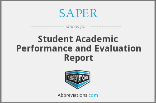What does SAPER stand for?