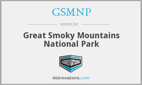 What does GSMNP stand for?