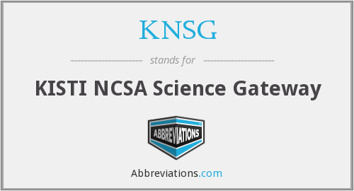 What does KNSG stand for?