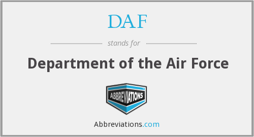 DAF - Department of the Air Force
