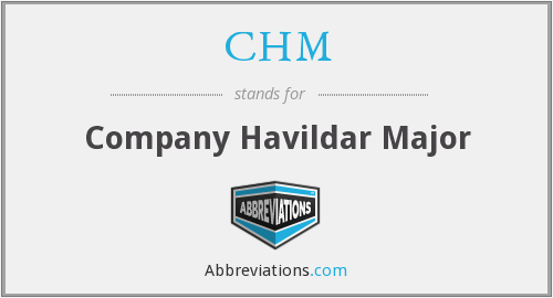 CHM - Company Havildar Major