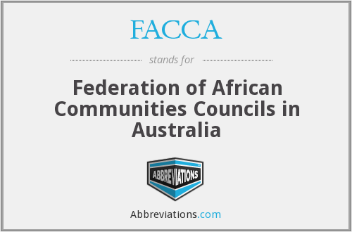 FACCA - Federation of African Communities Councils in Australia