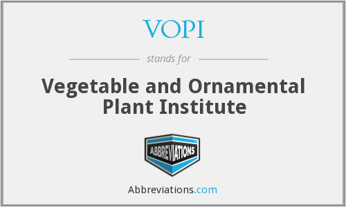 VOPI - Vegetable and Ornamental Plant Institute