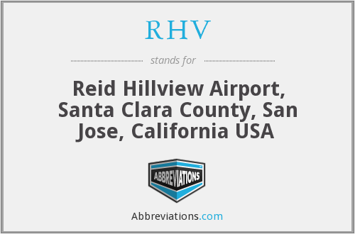 RHV - Reid Hillview Airport, Santa Clara County, San Jose, California USA