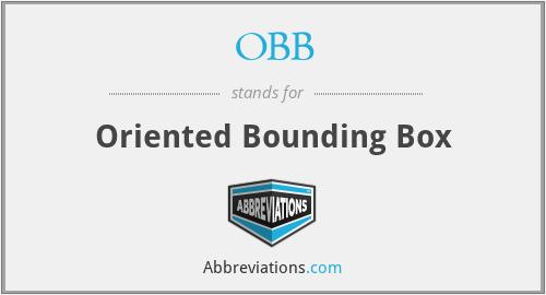 OBB - Oriented Bounding Box