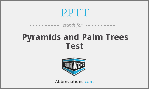 PPTT - Pyramids and Palm Trees Test