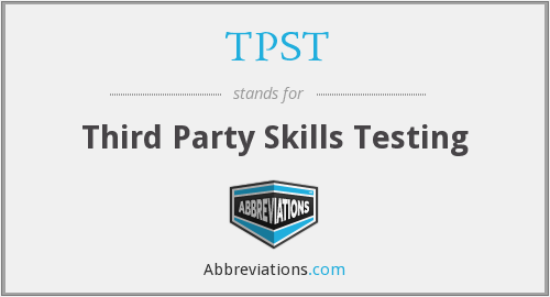 What does TPST stand for?