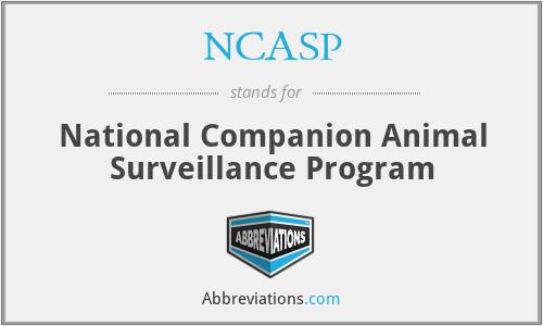 NCASP - National Companion Animal Surveillance Program