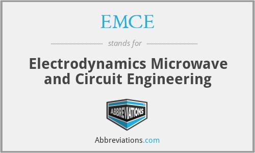 EMCE - Electrodynamics Microwave and Circuit Engineering